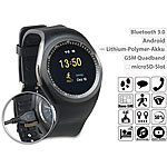 simvalley MOBILE 2in1-Uhren-Handy & Smartwatch für Android, Bluetooth (refurbished) simvalley MOBILE Handy-Smartwatches mit Bluetooth für Android