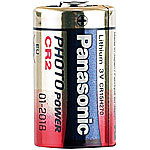 Panasonic 4er-Set Photo-Lithium-Batterien CR2, 3 Volt, 850 mAh Panasonic Lithium-Batterien Typ CR2