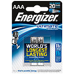 Energizer Ultimate Lithium-Batterie AAA Micro 1,5 Volt im 2er-Pack Energizer Lithium-Batterien Micro (AAA)