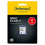 Intenso SecureDigital SD-Speicherkarte 4 GB Class 4 (SDHC) Intenso SD-Speicherkarten