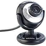 Somikon Hochauflösende USB-Webcam mit 6 LEDs, HD-Video (1280 x 1024 Pixel) Somikon Webcams