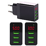 revolt Intelligentes 3-Port-USB-Wandnetzteil mit LED-Display, 3,1 A, 15,5 W revolt