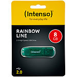 Intenso 8 GB USB-2.0-Speicherstick Rainbow Line, transparent-grün Intenso USB-Speichersticks