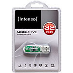 Intenso 32 GB USB-Speicherstick Rainbow Line, transparent-klar Intenso USB-Speichersticks