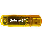 Intenso 64 GB USB-Speicherstick Rainbow Line, transparent-orange Intenso