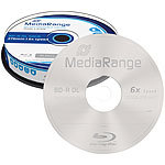MediaRange Blu-ray Rohling BD-R Dual Layer 50 GB 6x speed, 10er-Spindel MediaRange