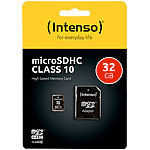 Intenso microSDHC-Speicherkarte 32 GB, Class 10, inkl. SD-Adapter Intenso