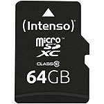 Intenso microSDXC-Speicherkarte 64 GB Class 10 inkl. SDXC-Adapter Intenso