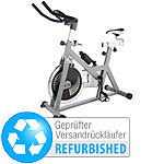 PEARL sports Indoor-Cycle, 18 kg Schwungmasse in 2 Richtungen, Versandrückläufer PEARL sports Schwungmassen-Indoor-Cycles