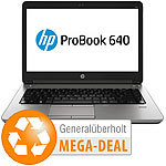 "hp ProBook 640 G1, 35,6 cm / 14"", Core i3, 8 GB, 320 GB (generalüberholt) hp Notebooks"
