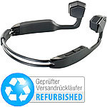 auvisio Wasserdichtes Headset BC-40.sh, Bluetooth (Versandrückläufer) auvisio Wasserdichte Headsets mit Bone Conduction und Bluetooth