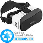 auvisio Virtual Brille V6,Bluetooth, Magnetschalter (Versandrückläufer) auvisio Virtual-Reality-Brillen für Smartphones