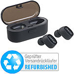 auvisio True Wireless In-Ear-Stereo-Headset, Bluetooth (Versandrückläufer) auvisio Kabelloses In-Ear-Stereo-Headsets mit Bluetooth und Lade-Etuis