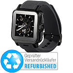 "simvalley MOBILE 1.5""-Smartwatch AW-414.Go mit Android 4, Bluetooth (Versandrückläufer) simvalley MOBILE Android-Smart-Watches"
