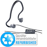 auvisio Kabel-Sport-Headset BC-20 mit Bone Conduction, Versandrückläufer auvisio Kabel Bone Conduction Headsets