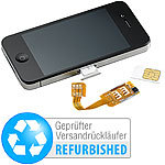 Callstel Dual-SIM-Adapter iPhone 4/4s mit Slot für 2 SIM-Karte (refurbished) Callstel Dual-SIM-Adapter für iPhone 4/4S