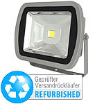 Luminea Wetterfester LED-Fluter, Metall, 80 W, warmweiß (Versandrückläufer) Luminea Wasserfeste LED-Fluter (warmweiß)
