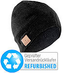 Callstel Bluetooth-Beanie-Mützemit integriertem Headset, FM-Radio (refurbished) Callstel Sportmützen mit Bluetooth-Headsets (On-Ear)
