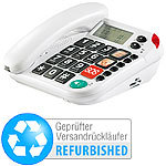 simvalley communications Notruf-Senioren-Telefon mit SOS-Taste (refurbished) simvalley communications SOS-Senioren-Telefone (Festnetz)