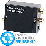 auvisio Audio-Konverter digital zu analog, mit TOSLINK (Versandrückläufer) auvisio Audio-Konverter digital zu analog