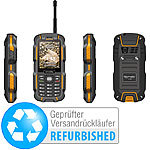 simvalley MOBILE Dual-SIM-Outdoor-Handy mit Walkie-Talkie XT-980 (Versandrückläufer) simvalley MOBILE Dual-SIM Outdoor-Handys mit Walkie-Talkie-Funktion