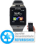 "simvalley MOBILE 1,5""-Handy-Uhr & Smartwatch mit Bluetooth 3.0 (Versandrückläufer) simvalley MOBILE Handy-Smartwatches mit Kamera und Bluetooth"