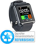 Callstel Freisprech-Smartwatch SW-100.tch, Bluetooth 3.0 + EDR (refurbished) Callstel Freisprech-Smartwatches mit Bluetooth