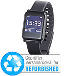 simvalley MOBILE Smartwatch mit Bluetooth 4.0, Fitness, Pulsmessung (refurbished) simvalley MOBILE Smartwatches mit Pulssensor für iOS & Android
