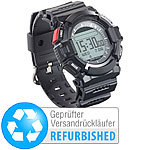 newgen medicals Outdoor-Fitness-Smartwatch, Benachrichtigungen, IP67, (refurbished) newgen medicals Outdoor Fitness-Smartwatches für iOS & Android