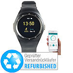 simvalley MOBILE 2in1-Uhren-Handy & Smartwatch für iOS & Android (Versandrückläufer) simvalley MOBILE Handy-Smartwatches mit Bluetooth für Android und iOS