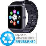 simvalley MOBILE Handy-Uhr & Smartwatch mit IPS-Display,Versandrücklüfer simvalley MOBILE Handy-Smartwatches mit Kamera und Bluetooth
