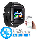 simvalley MOBILE 2in1-Handy-Uhr & Smartwatch für Android, Versandrückläufer simvalley MOBILE Handy-Smartwatches mit Bluetooth