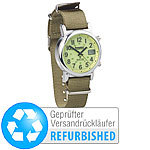Semptec Urban Survival Technology Outdoor-Armbanduhr mit Funk und Solarbetrieb (Versandrückläufer) Semptec Urban Survival Technology Funk Herren Armbanduhren mit Solar