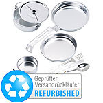 Semptec Urban Survival Technology 8-teiliges Camping-Kochgeschirr aus Aluminium (Versandrückläufer) Semptec Urban Survival Technology Campinggeschirre