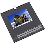 Your Design Foto-Bastelkalender, schwarz, 23 x 24 cm Your Design Fotokalender Druck-Sets