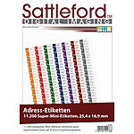 Sattleford 11200 Adress-Etiketten Super-Mini 25,4x16,9 mm Laser/Inkjet Sattleford Drucker-Etiketten