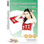 Your Design 32 T-Shirt Transferfolien für weiße Textilien A4 Inkjet Your Design T-Shirt-Druck-Folien