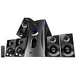 auvisio Home-Theater Surround-Sound-System 5.1, 160 Watt, MP3, Radio, schwarz auvisio 5.1 Surround-Lautsprecher-Systeme