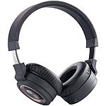auvisio Faltbarer HiFi-Kopfhörer mit Headset-Telefonfunktion, Bluetooth 3.0 auvisio Over-Ear-Headsets mit Bluetooth