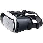 auvisio Virtual-Reality-Brille für Smartphones + 2in1-Mini-Game-Controller auvisio Gaming-Controller mit Bluetooth