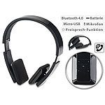 auvisio Faltbares On-Ear-Headset mit Bluetooth, Auto-Pairing, Multipoint, 30 m auvisio Faltbare On-Ear-Headsets mit Bluetooth