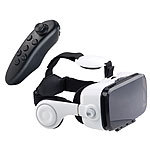 auvisio Virtual-Reality-Brille mit Headset & Game-Controller im Set, Bluetooth auvisio