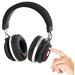 auvisio Over-Ear-Headset mit Bluetooth 3.0, Auto-Connect und Touch-Steuerung auvisio Over-Ear-Headsets mit Bluetooth