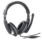 auvisio Gaming-Headset GHS-100 für PC, mit Klapp-Mikrofon, 2x 3,5-mm-Klinke auvisio Over-Ear-Gaming-Headset