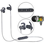auvisio In-Ear-Headset mit Bluetooth, Fernbedienung & patentiertem Soundsystem auvisio In-Ear-Stereo-Headsets mit Bluetooth