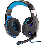 Mod-it Beleuchtetes Gaming-Headset mit Kabelfernbedienung & Mikrofon-Schalter Mod-it Over-Ear-Gaming-Headsets mit Beleuchtungen
