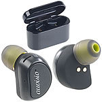 auvisio True Wireless In-Ear-Headset, Powerbank-Etui, Siri-& Google-kompatibel auvisio