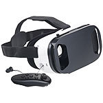 auvisio Virtual-Reality-Brille mit In-Ear-Headset, Bluetooth & Game-Controller auvisio Virtual-Reality-Brillen mit Headsets und Touchpads für Smartphones