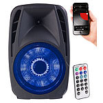 auvisio Mobile PA-Partyanlage mit Bluetooth, MP3, USB, SD, 200 Watt, Karaoke auvisio Mobile Party-Audioanlagen mit Karaoke-Funktionen