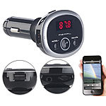 auvisio MP3-FM-Transmitter mit Bluetooth, Freisprecher, USB-Port, für 12/24 V auvisio FM-Transmitter & Freisprecher mit MP3-Player & USB-Ladeports